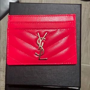 100% Authentic YSL Cardholder Neon Pink